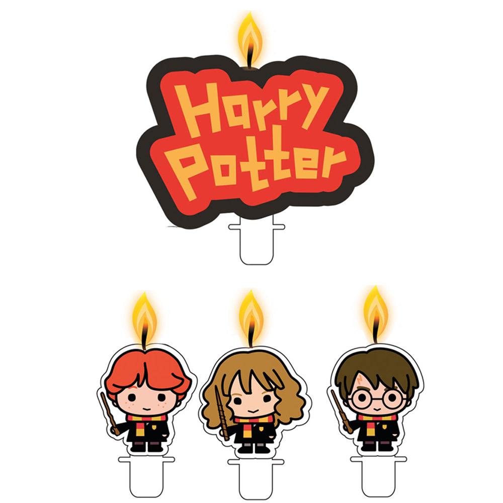 Harry Potter Cake Candles - 4 Pieces