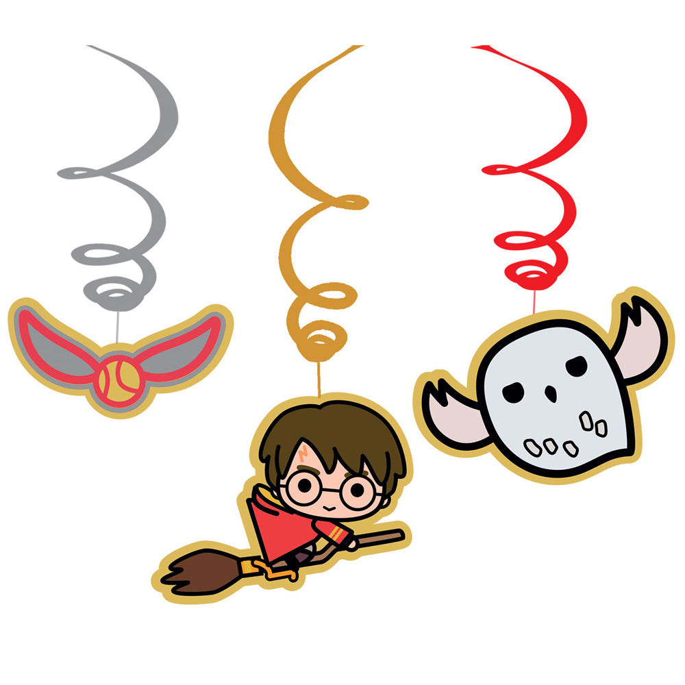Harry Potter Hanging Swirl Decorations - Pack of 6