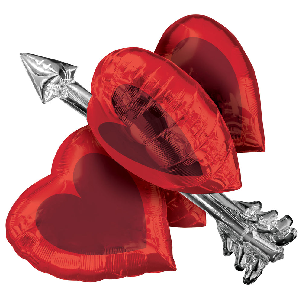 Heart & Arrow Giant Foil Balloon - 27""