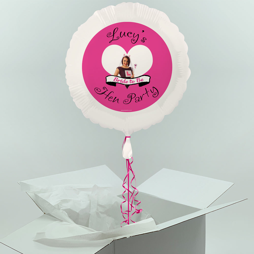 Inflated Personalised Photo Balloon-  Hen Party Design