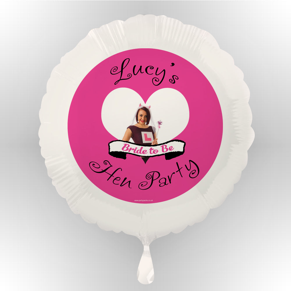 Hen Party Personalised Photo Balloon
