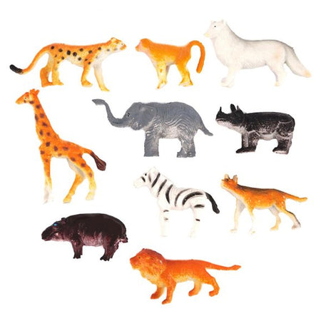 Jungle Animal Figures - 4cm-6cm - Pack of 10