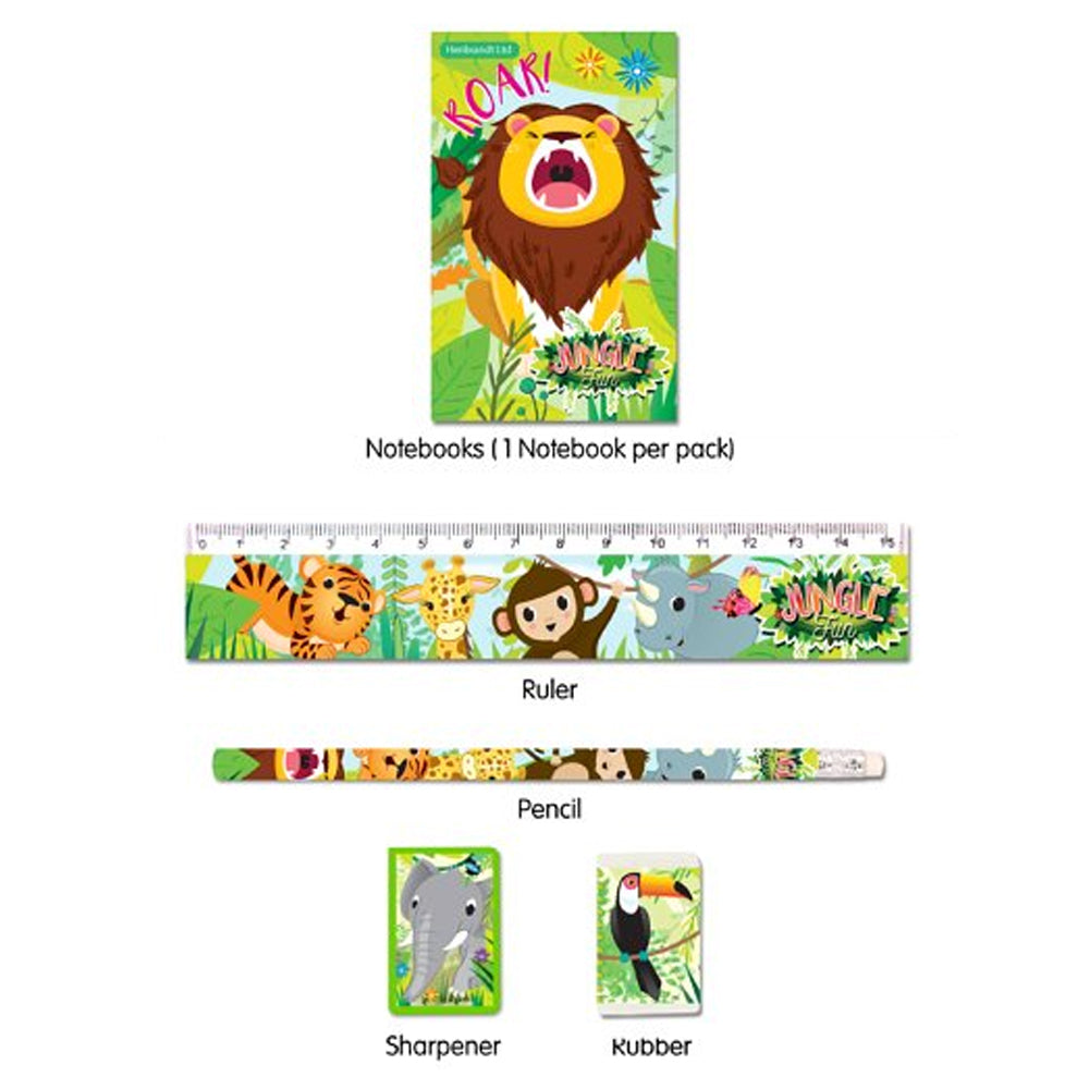 Jungle Themed Stationary Set - 5 Pieces