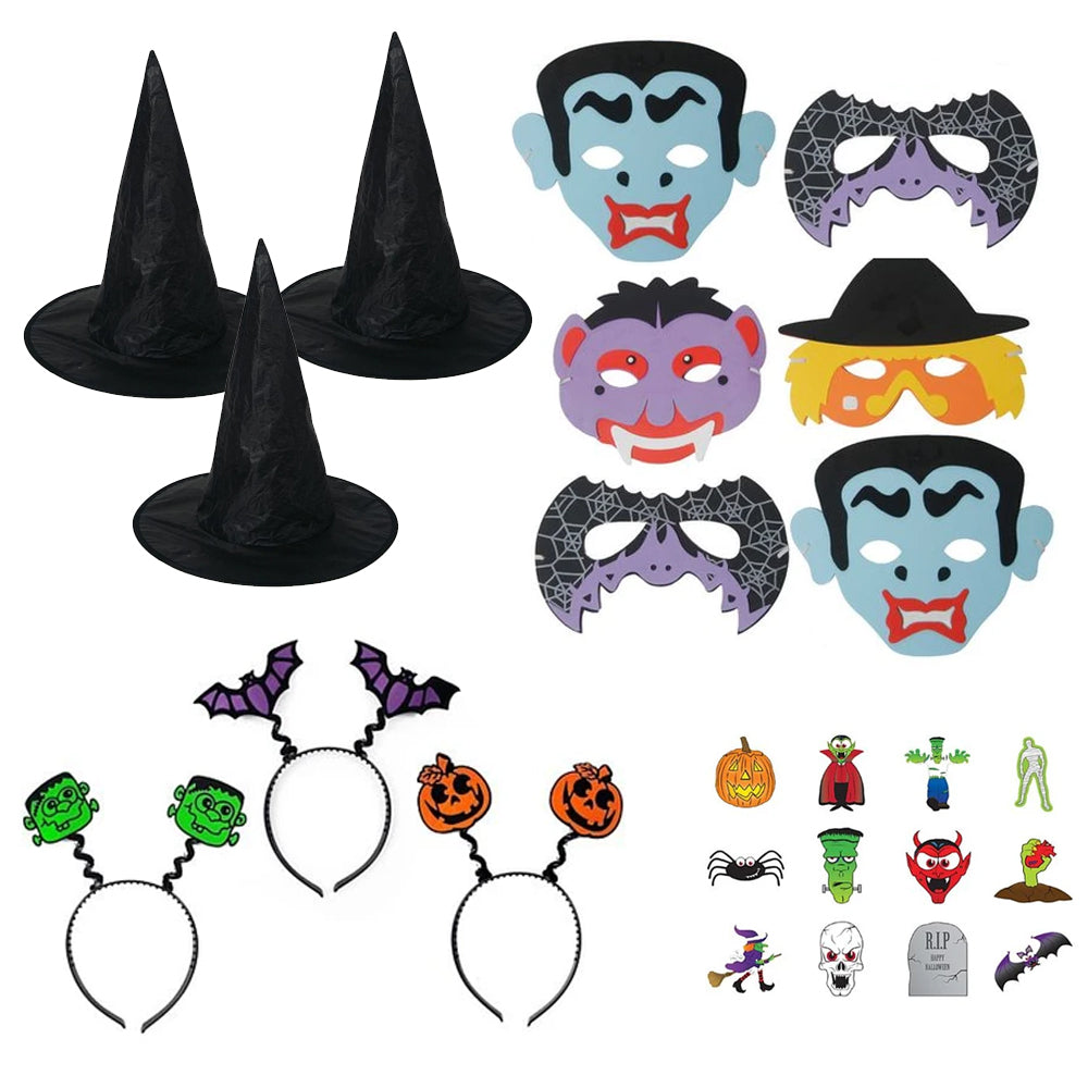 Kids Halloween Dress Up Kit - 24 Pieces