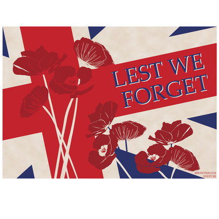 Remembrance Sunday 'Lest We Forget' Poster - A3