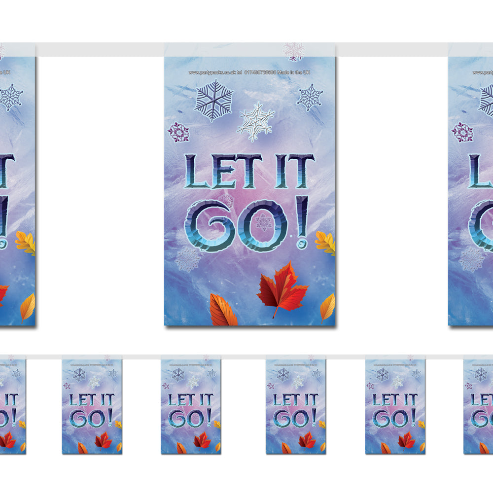 Let It Go Paper Flag Bunting Decoration - 2.4m