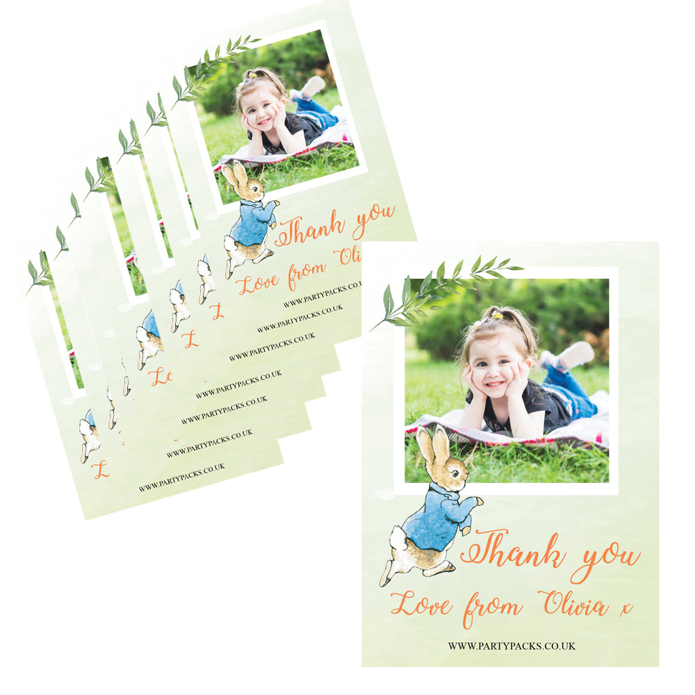 Peter Rabbit Personalised Photo Thank You Cards - Pack of 8