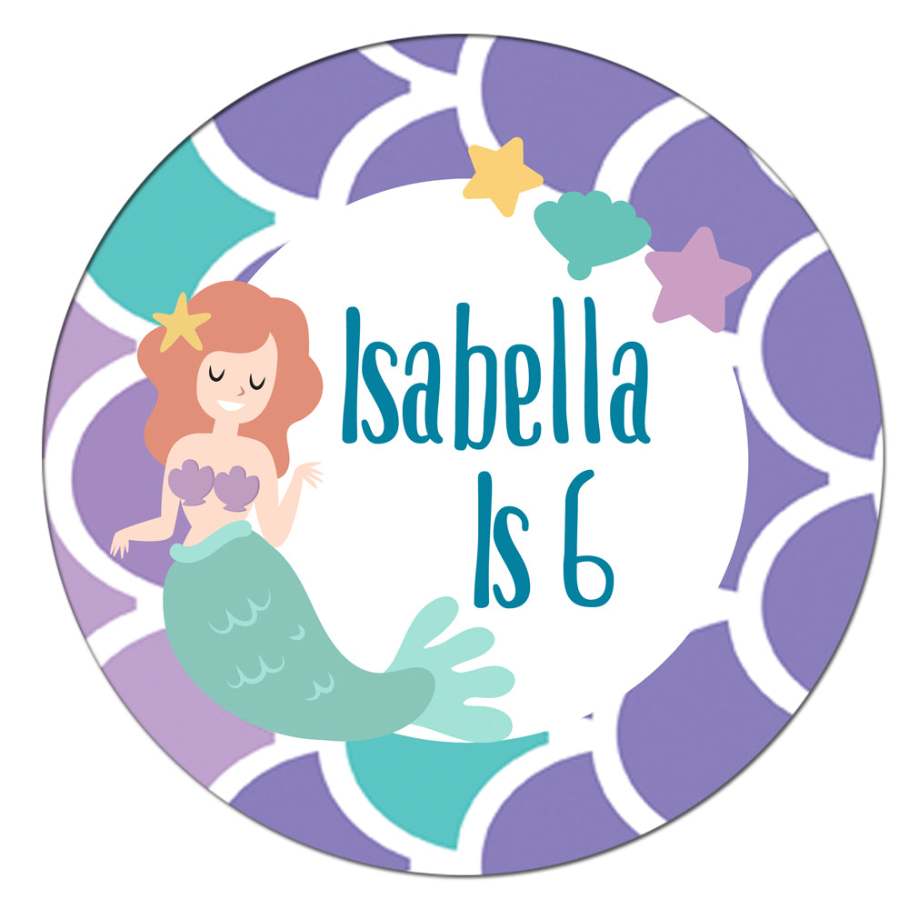 Personalised Mermaid Badge - 58mm