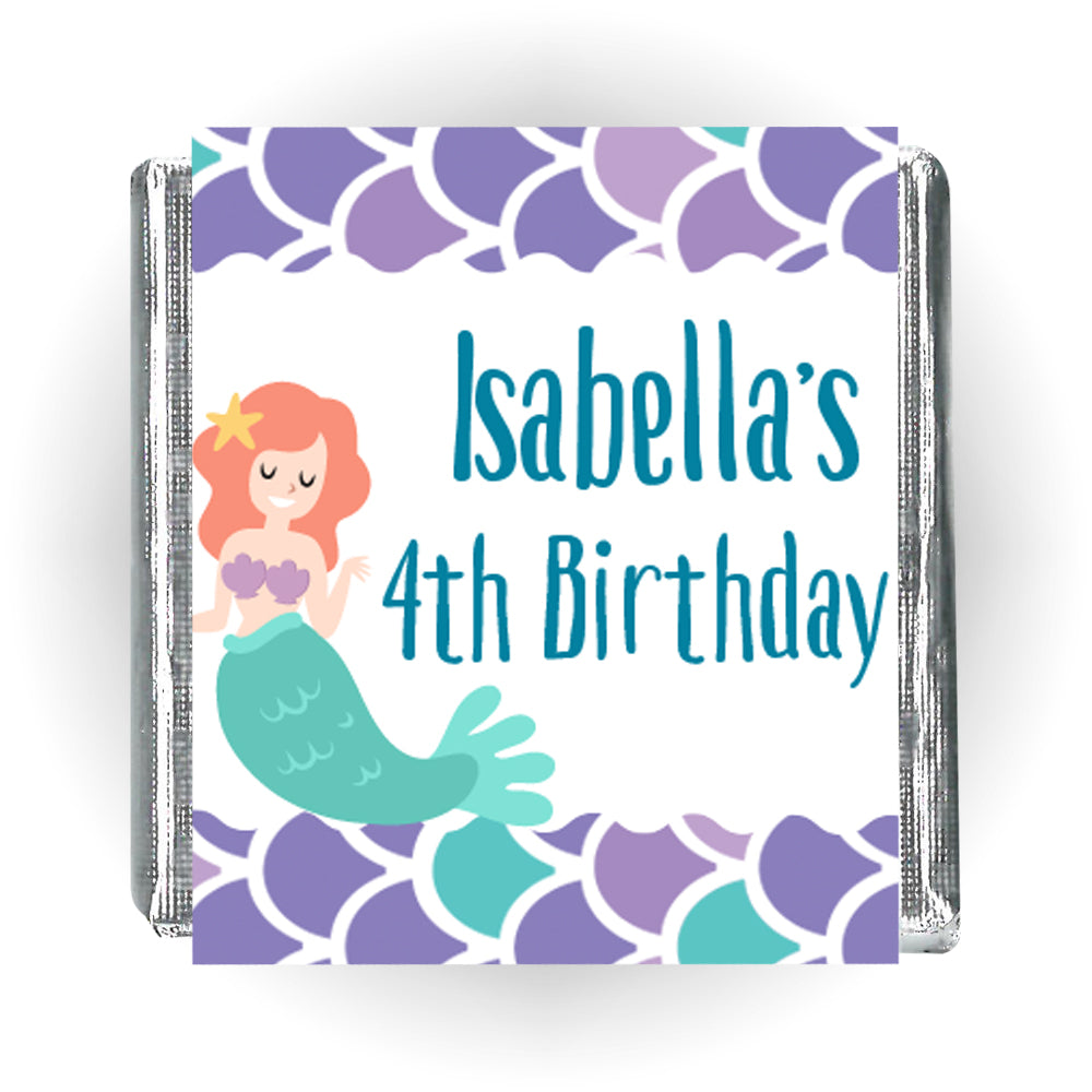 Personalised Chocolates - Mermaid - Pack of 16