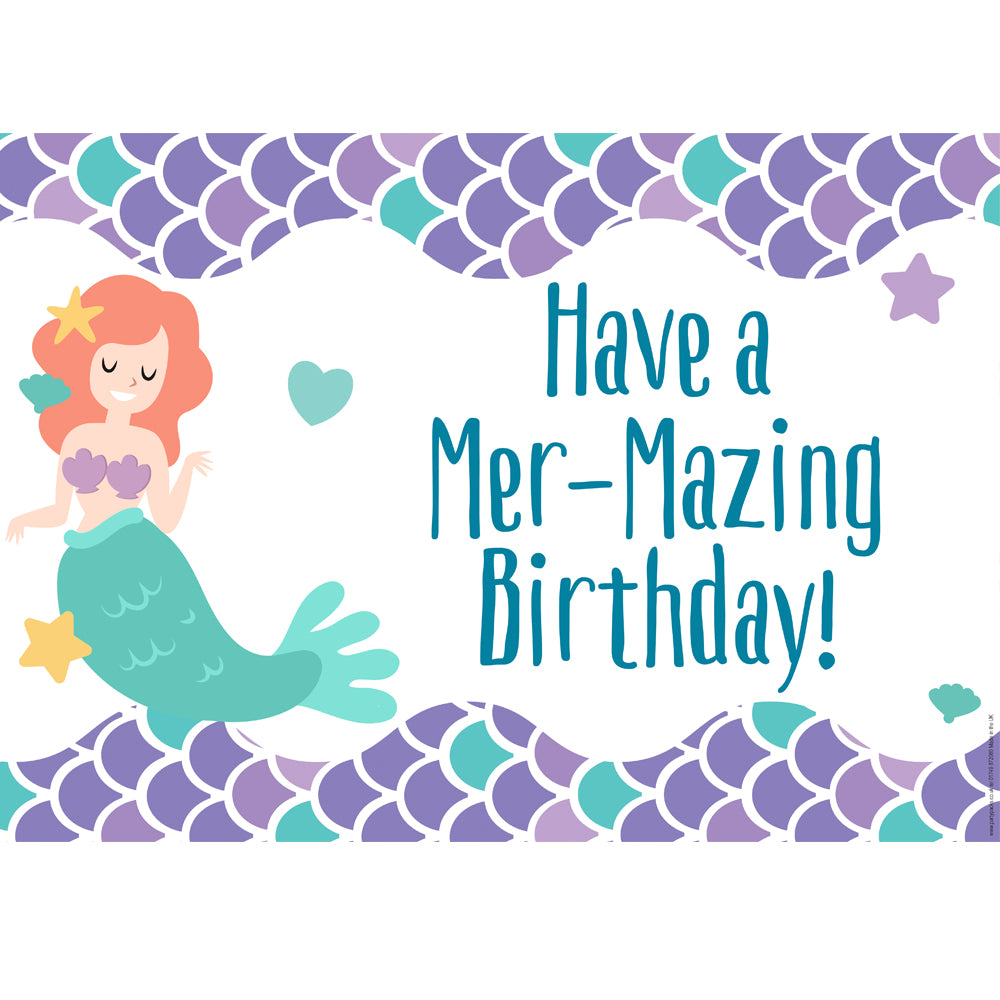 Have a Mer-Mazing Birthday Mermaid Poster - A3