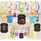 Happy New Year Swirl Decorations - Pack of 30