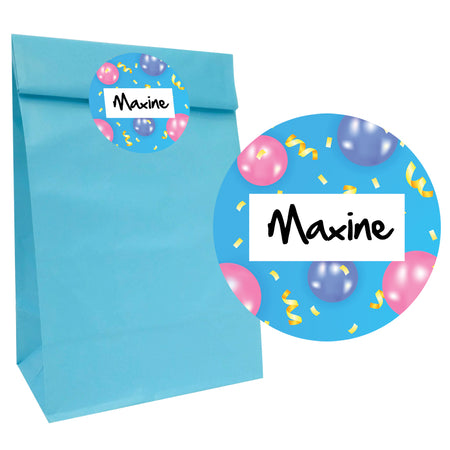 Party Bag Name Stickers - 5cm - Sheet of 12