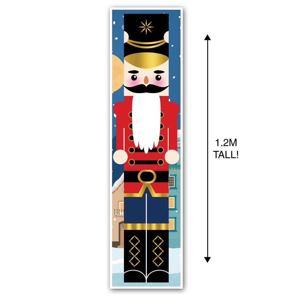Christmas Traditional Nutcracker Portrait Wall & Door Banner Decoration - 1.2m