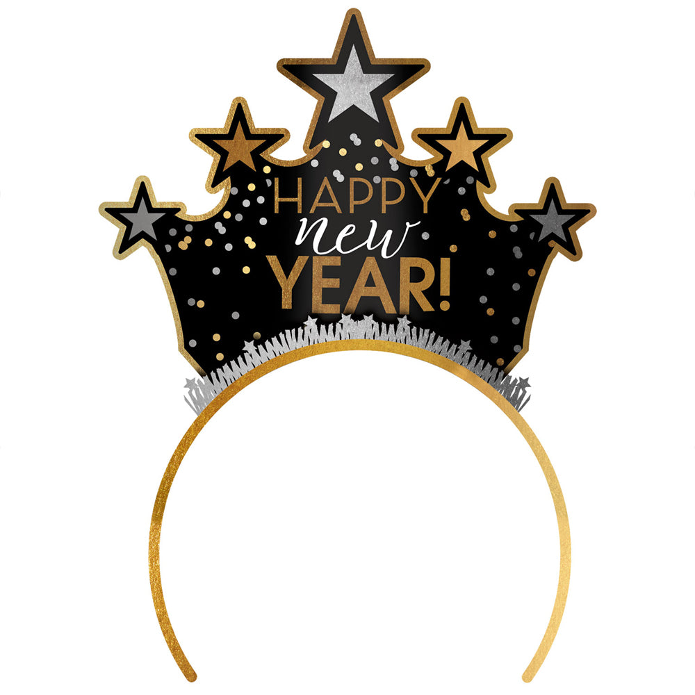 Happy New Year Black and Gold Tiara