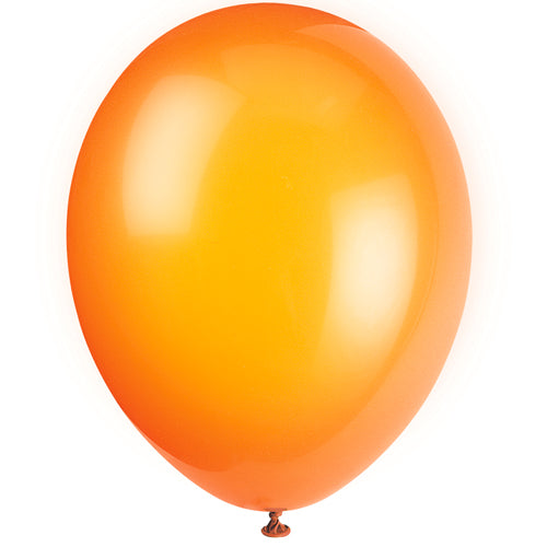 "Orange Latex Balloons - 12"" - Pack of 10"