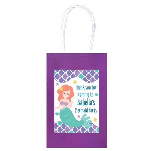 Personalised Mermaid Paper Party Bags - Pack of 4