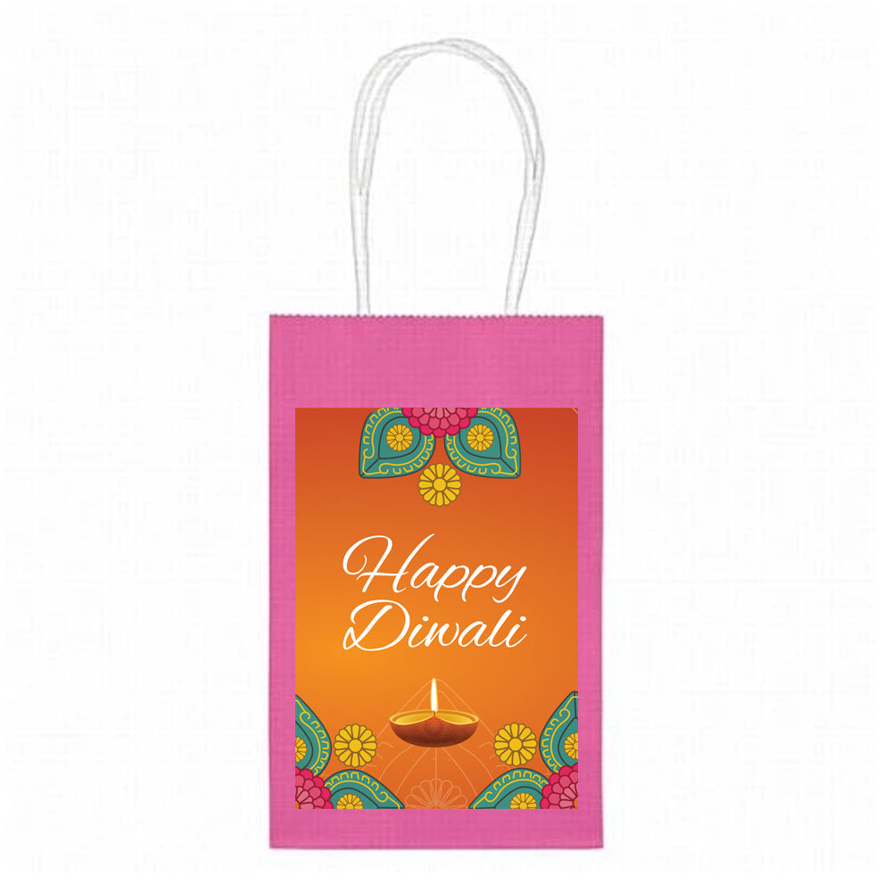 Personalised Diwali Paper Party Bags - Pack of 4