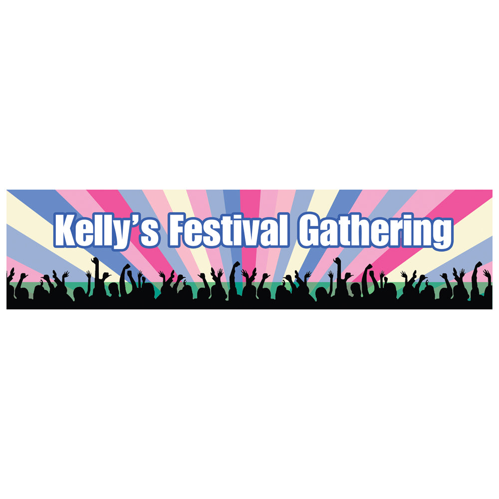 Festival Themed Personalised Banner - 1.2m