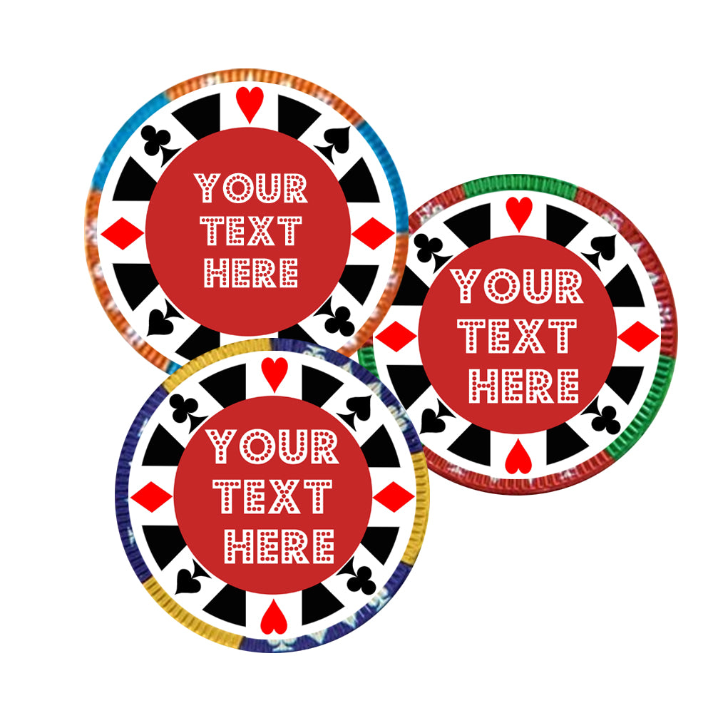 Personalised Chocolate Casino Chips - Pack of 35