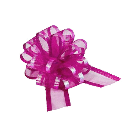 Hot Pink Premium Quality Organza Pullbows - 50mm