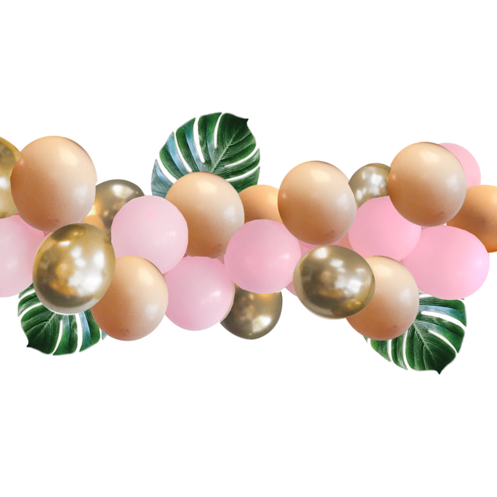 Pink and Gold Jungle Safari Balloon Arch DIY Kit - 2.5m