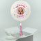 Inflated Personalised Photo Balloon -  Pink Glitz
