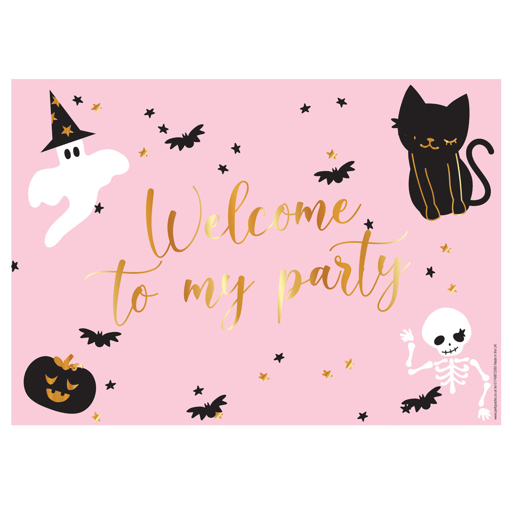 Pink Halloween Personalised Poster - A3
