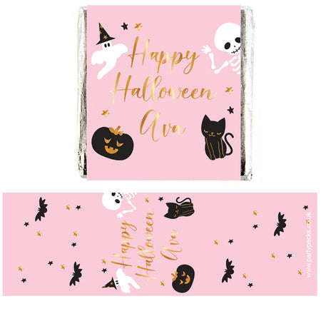 Personalised Chocolates - Pink Halloween - Pack of 16