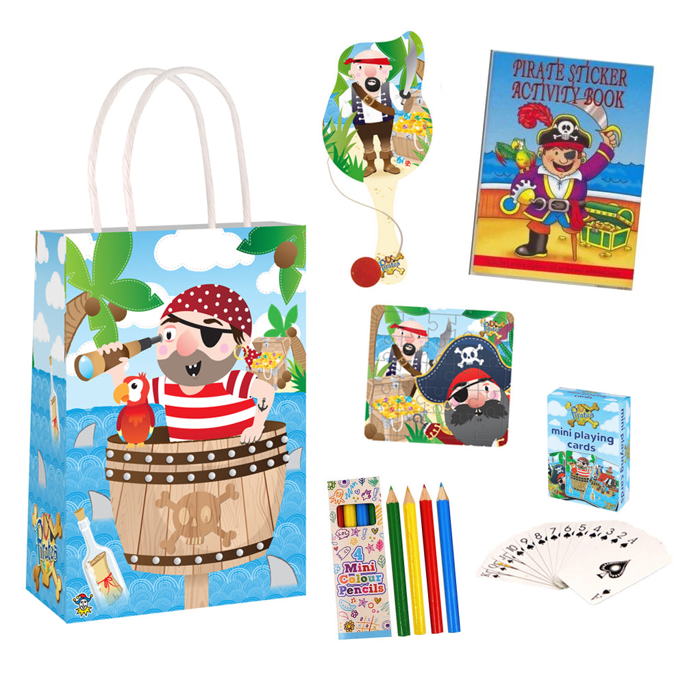 Pirate Plastic Free Party Bag Kit with Contents - Each