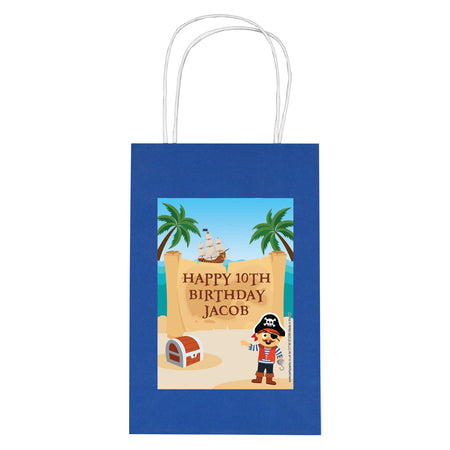 Personalised Pirate Paper Party Bags - Pack of 12
