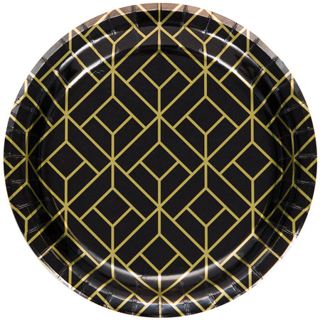 Roaring 20's Paper Plates - 18cm - Pack of 8