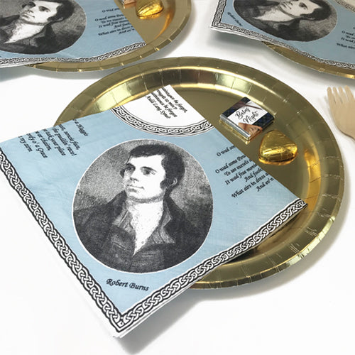 Burns Night Robert Burns Portrait Napkins - 33cm - Pack of 20