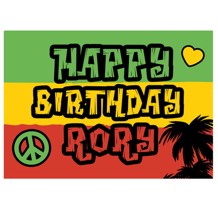 Reggae Themed Personalised Poster - A3