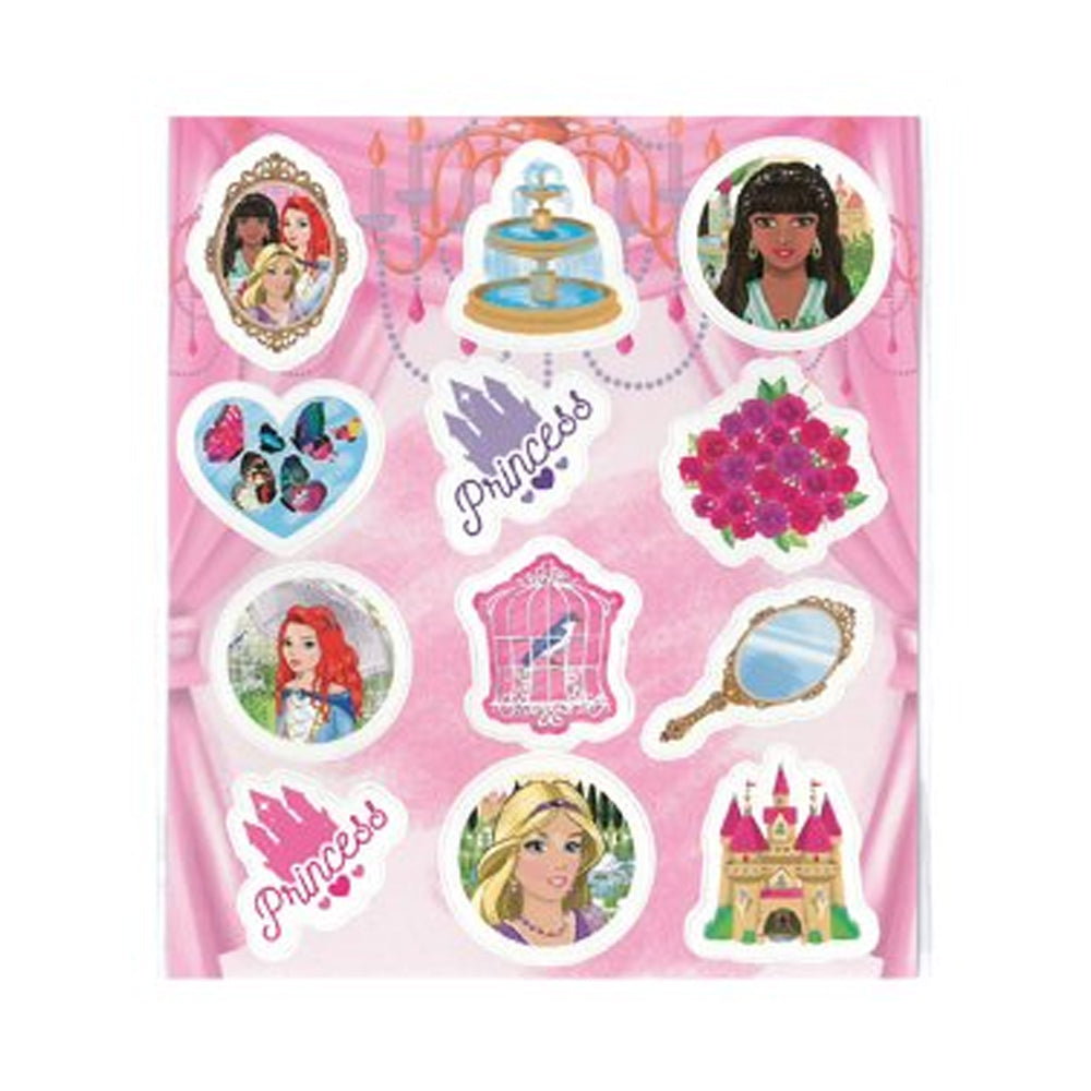Princess Stickers - 11.5cm - Sheet of 12 stickers