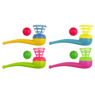 Ball Blow Pipe - Assorted Colours - 10cm