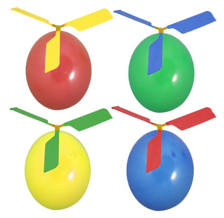 Balloon Helicopter - Assorted Colours - Each