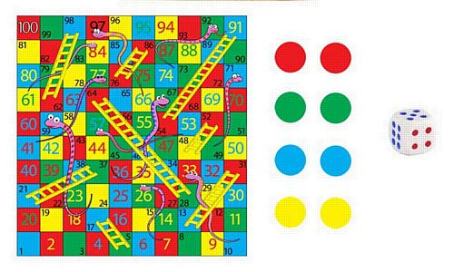 Mini Snakes and Ladders Game - 8cm