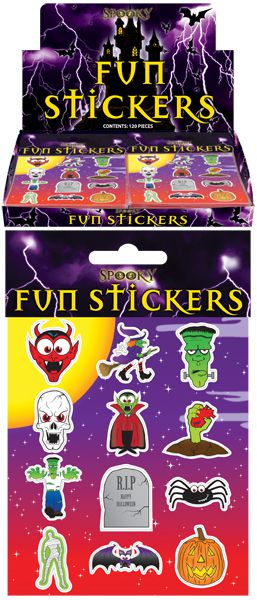 Halloween Themed Stickers - Sheet of 12