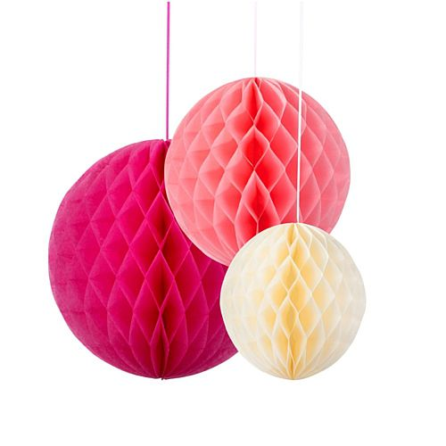 Decadent Decs Honeycombs Blossom Mix Tissue Balls - Pack of 3