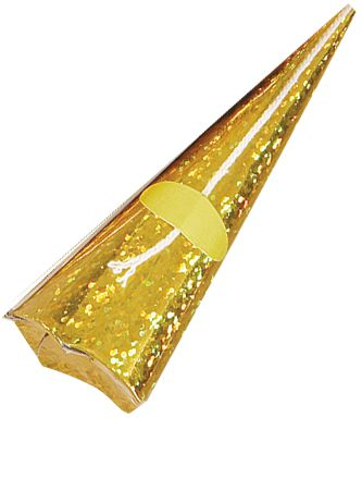 Gold Holographic Cone Poppers - Pack of 10