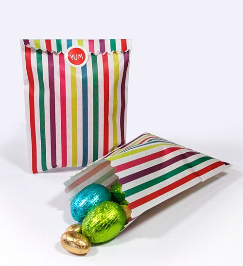 Multicoloured Treat Bags - 21cm - Pack of 10