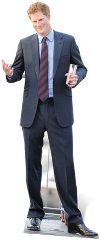 Prince Harry Cardboard Cutout - 1.85m