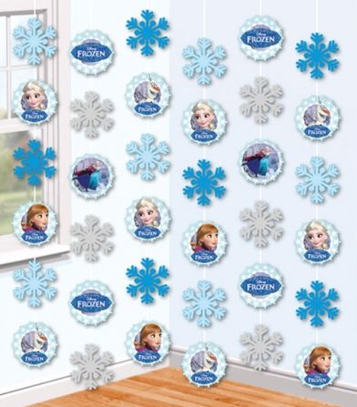 Disney Frozen String Decorations - 2.1m - Pack of 6