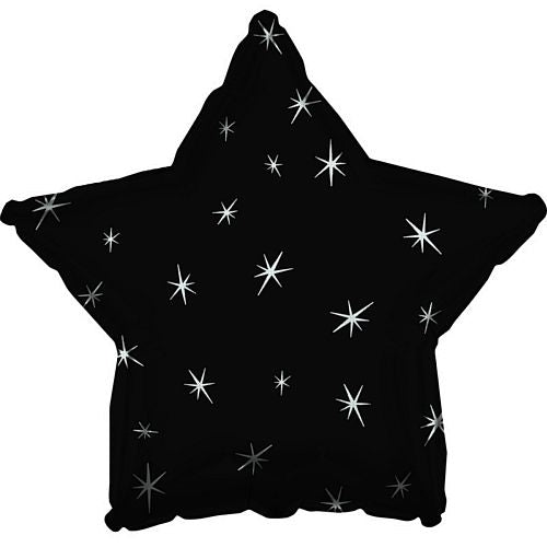 Black Sparkle Star Foil Balloon - 18""