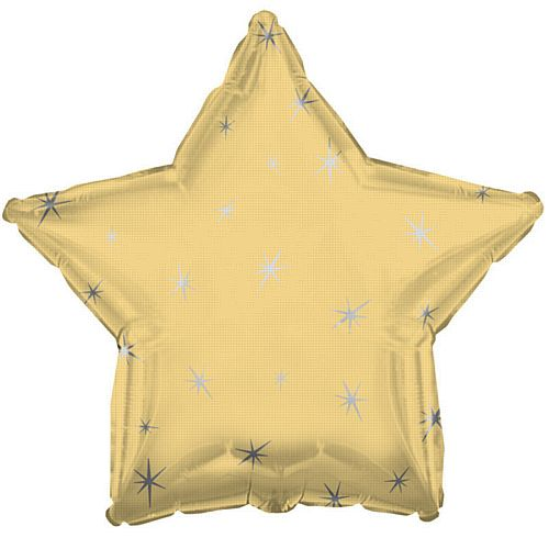 Golden Sparkle Star Foil Balloon - 18""