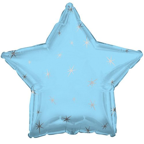 Powder Blue Sparkle Star Foil Balloon - 18""