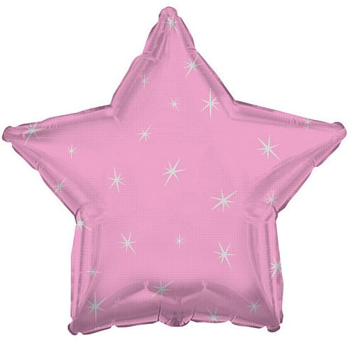 Pink Sparkle Star Foil Balloon - 18""
