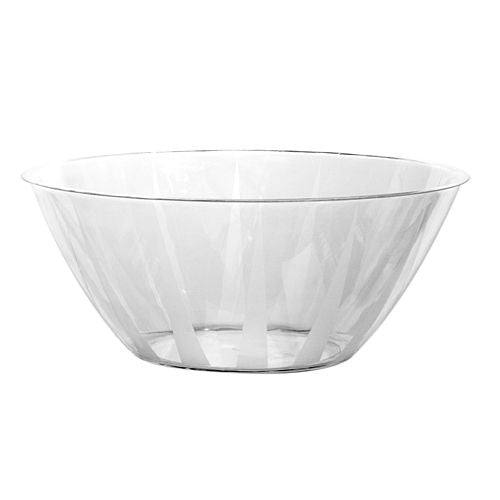 Crystal Clear Large Plastic Serving Bowl - 4.7L - Each