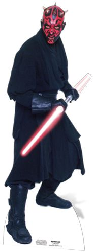 Click to view product details and reviews for Star Wars Darth Maul Cardboard Cutout 185m.
