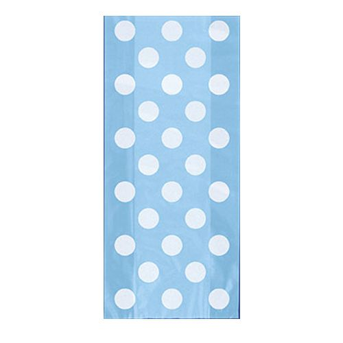 Pale Blue Dots Cello Bags - Pack of 20